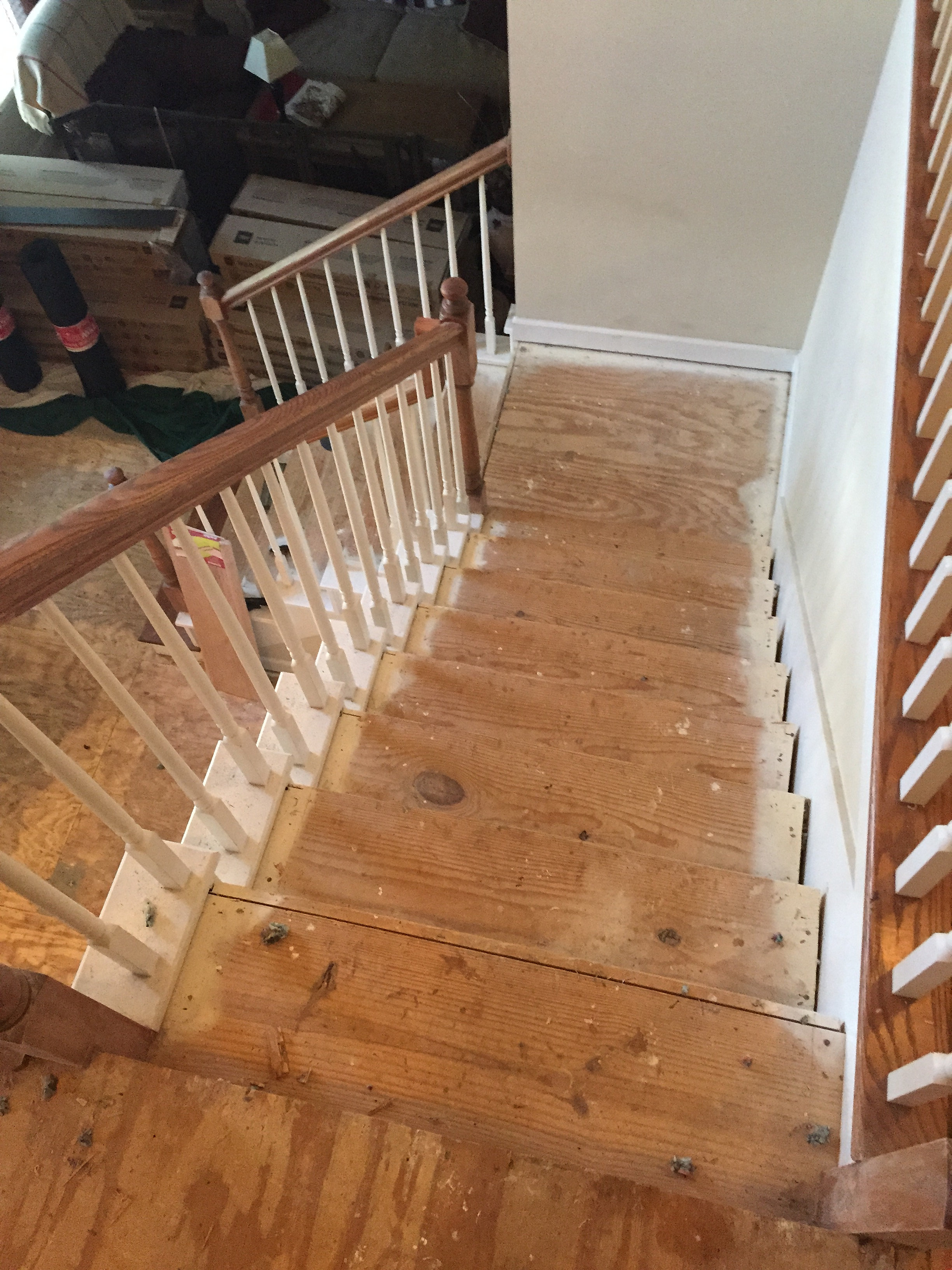Carpet To Hardwood Stairs Carpet On Stairs With Hardwood Floors Staining Pine Treads After