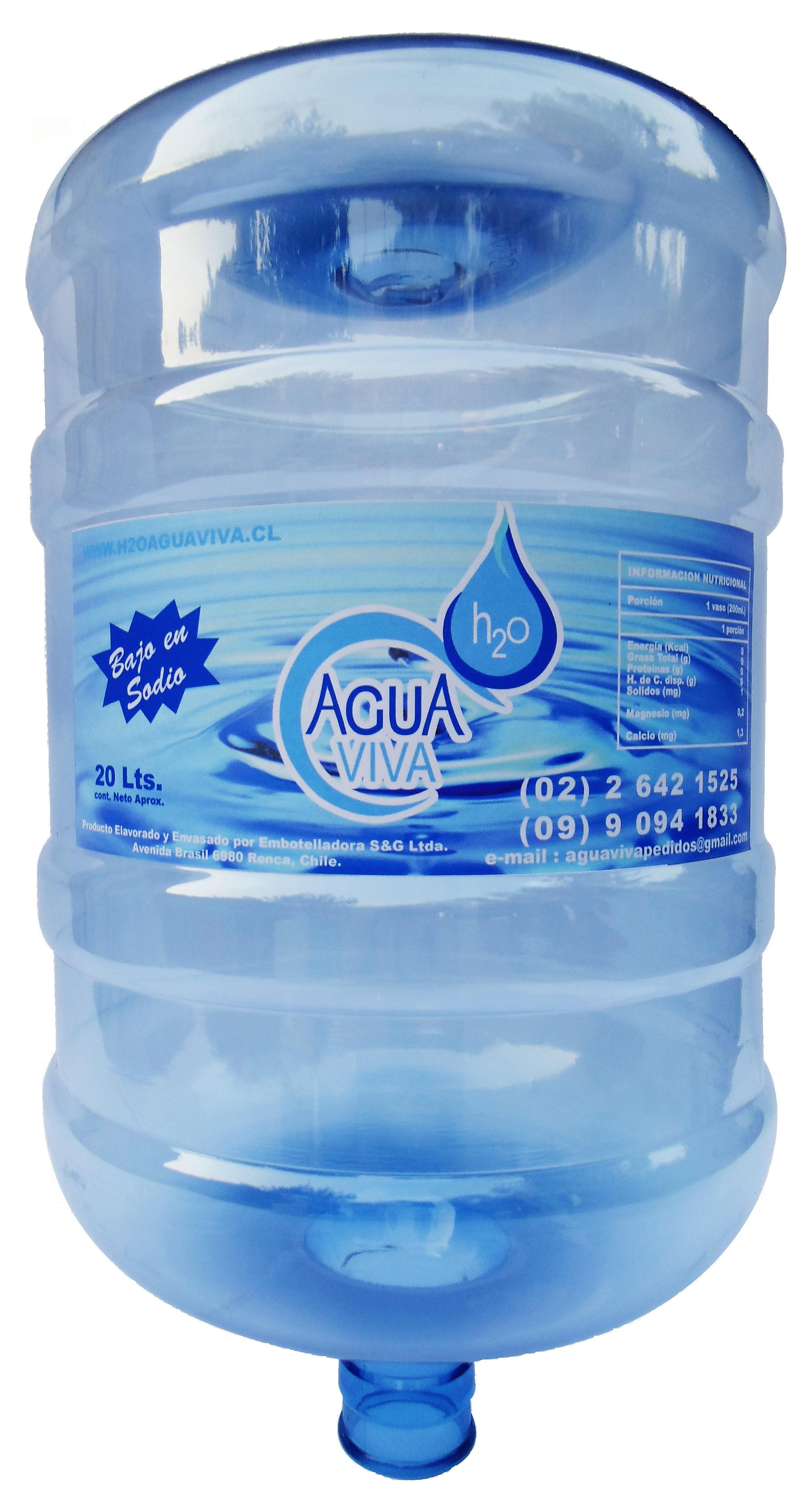 H2O Agua Viva | Agua purificada | RECARGA BOTELLÓN 20 Lt.