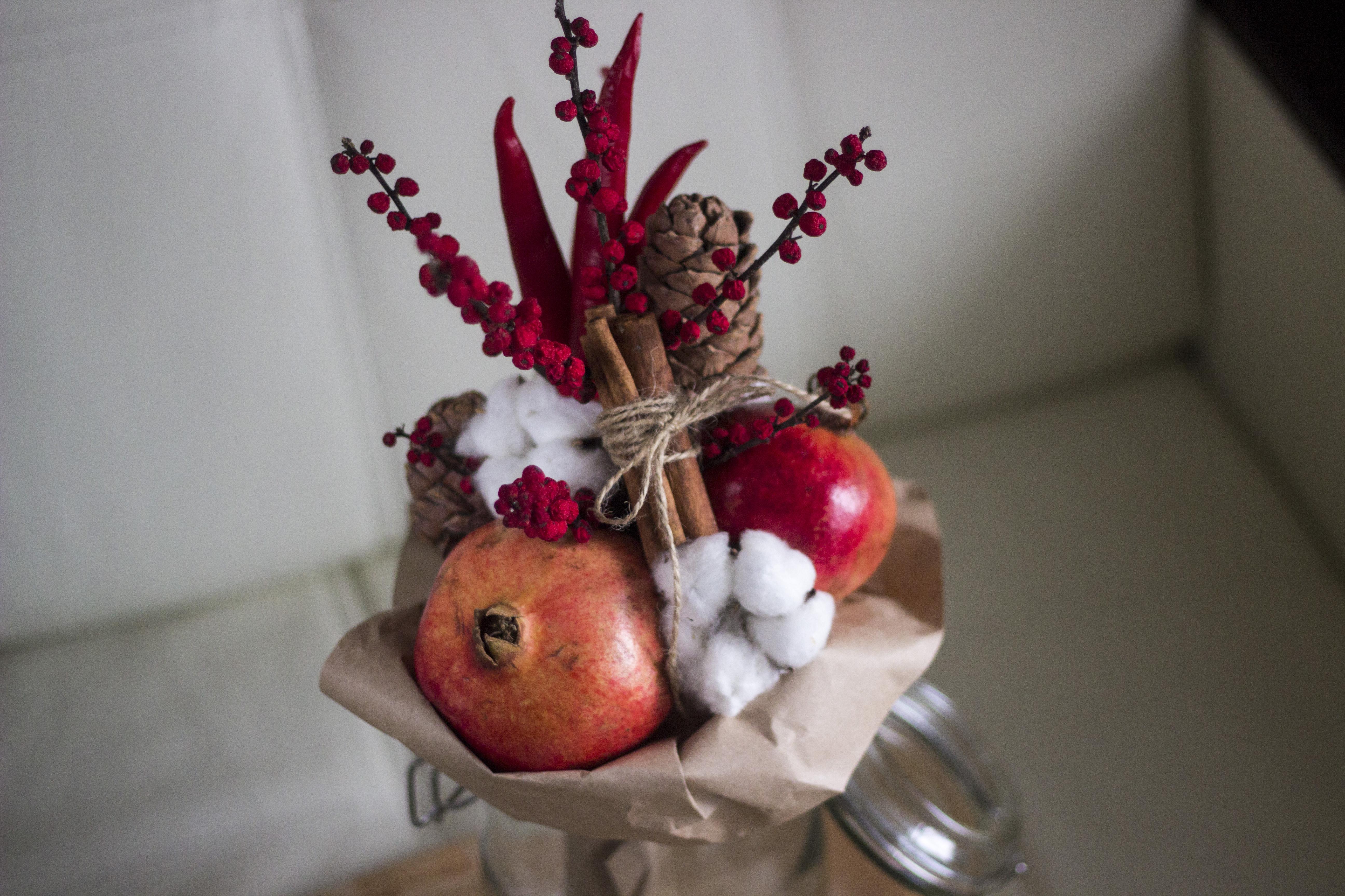 Букет из фруктов без проколов своими руками 52