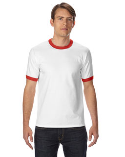 White Shirt Red Trim