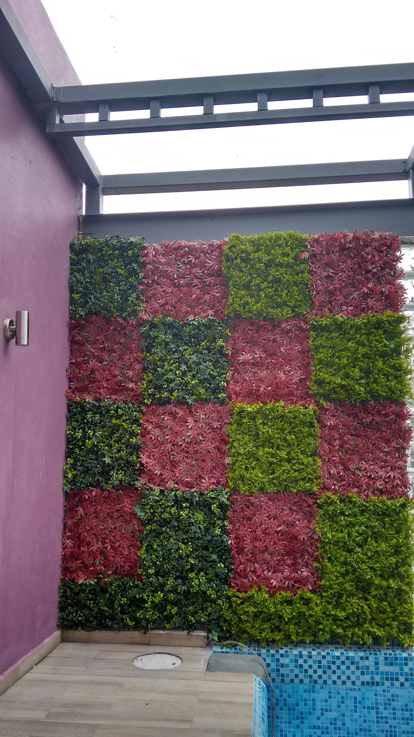 Muros verdes artificiales follaje sintetico follaje - Muros sinteticos decorativos ...
