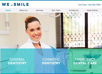 Dentist Template - Create smiles with this warm and professional dental clinic template, perfect for all types of health and medical clinics. Fully customizable, simply change the text and upload your own images to give your website a personal touch. With Wix Bookings, you can also set up and schedule appointments, allowing your visitors to set up appointments with ease. Start editing now to create your perfect website.