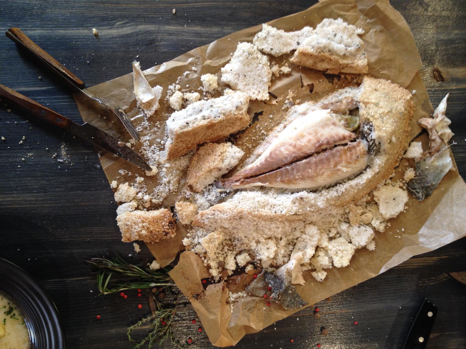 Рыба в панцире из соли рецепт