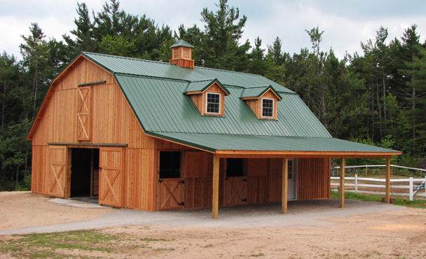 How to finish gambrel barn joy studio design gallery for Gambrel pole barn plans
