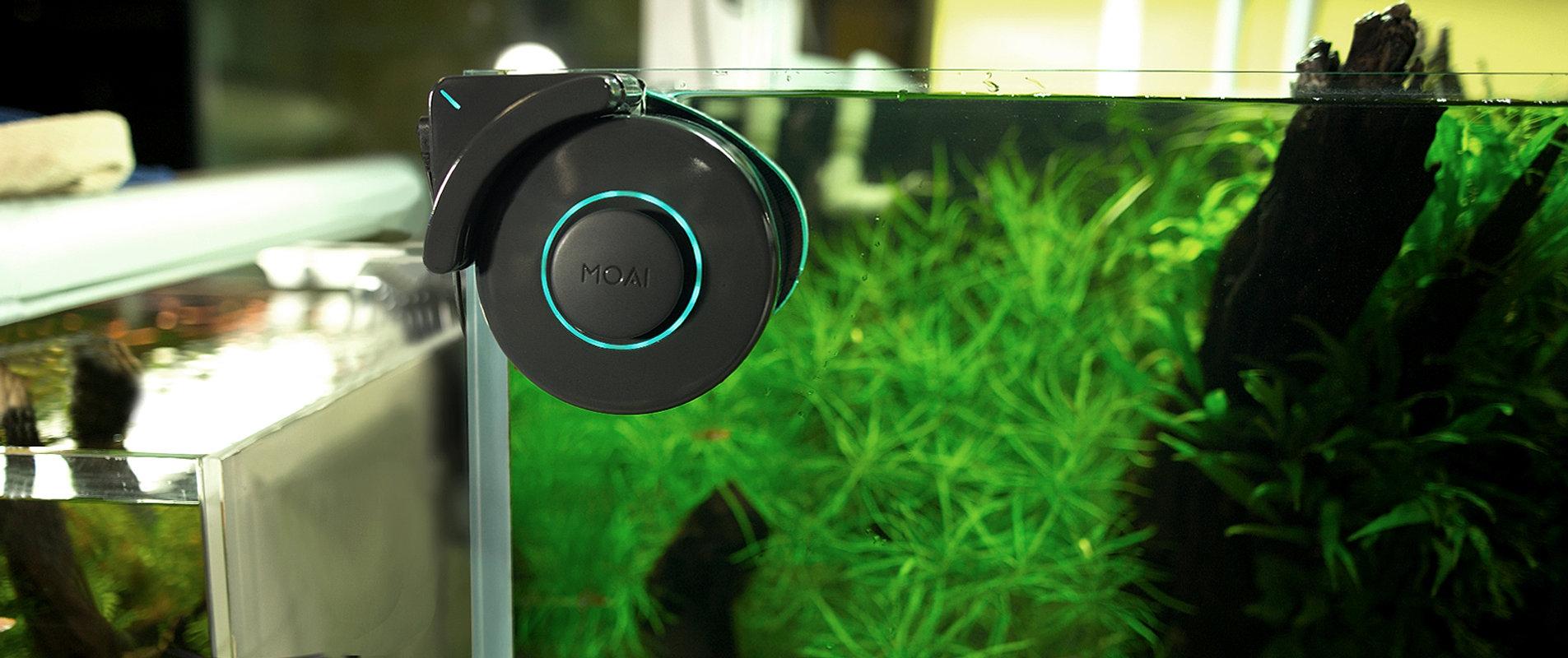 Fish tank cleaner - Moai Aquarium Reef Fishtank Algae Cleaner Smart Robot Magnet