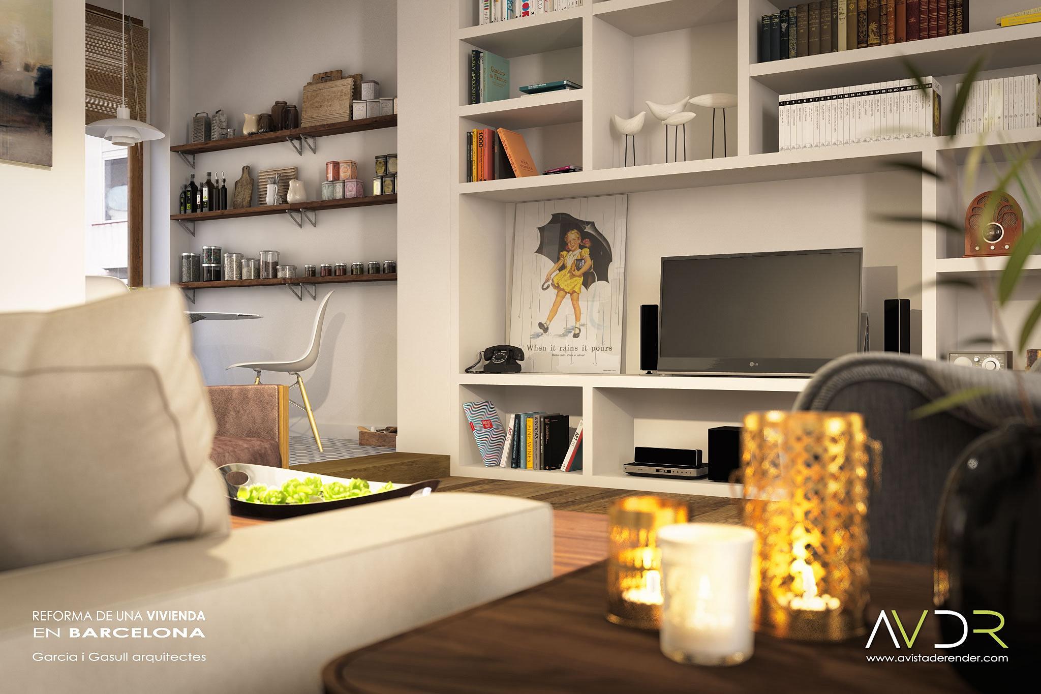 Avistaderender renders de arquitectura sala de estar for Sala de estar vista desde arriba