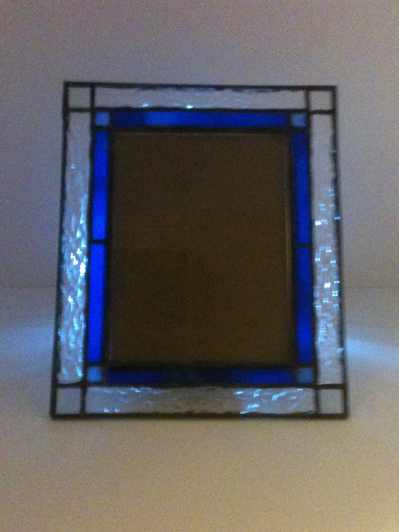 mulcahyglass stained glass picture frame sold