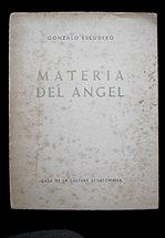 Gonzalo  Escudero. MATERIA DEL ANGEL