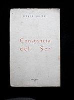 Magda Portal. CONSTANCIA DEL SER