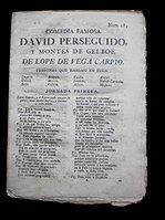 Lope de VegaDavid Perseguido, y ...