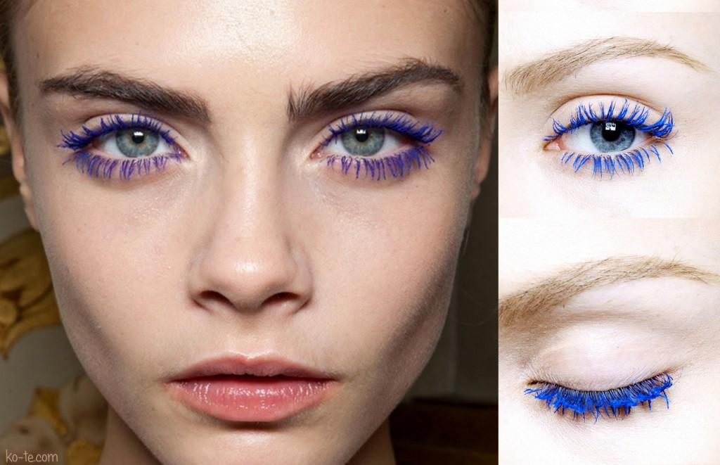 Карие глаза синяя тушь макияж
