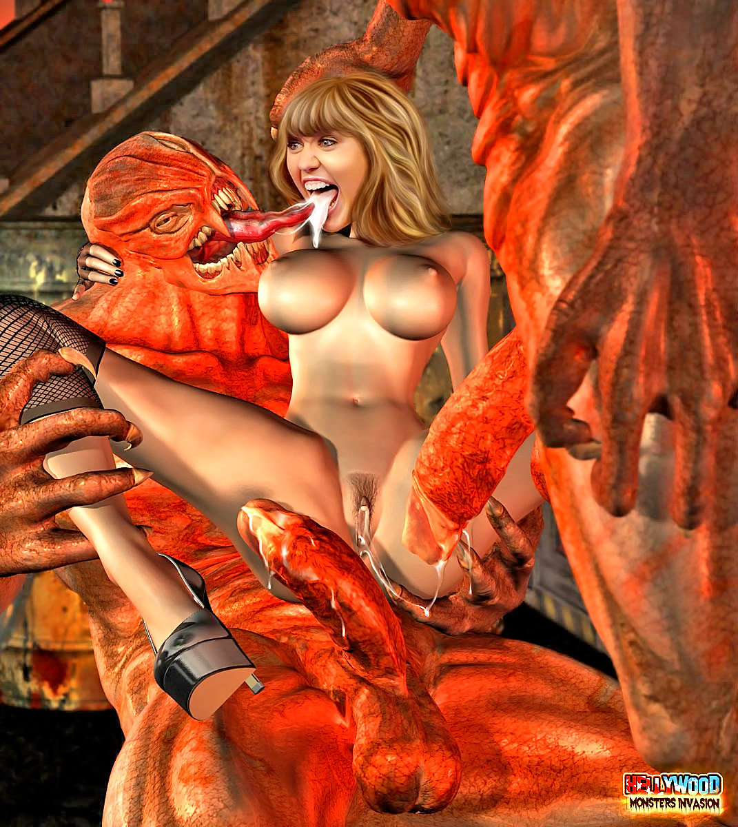 Manga monsters nude adult images