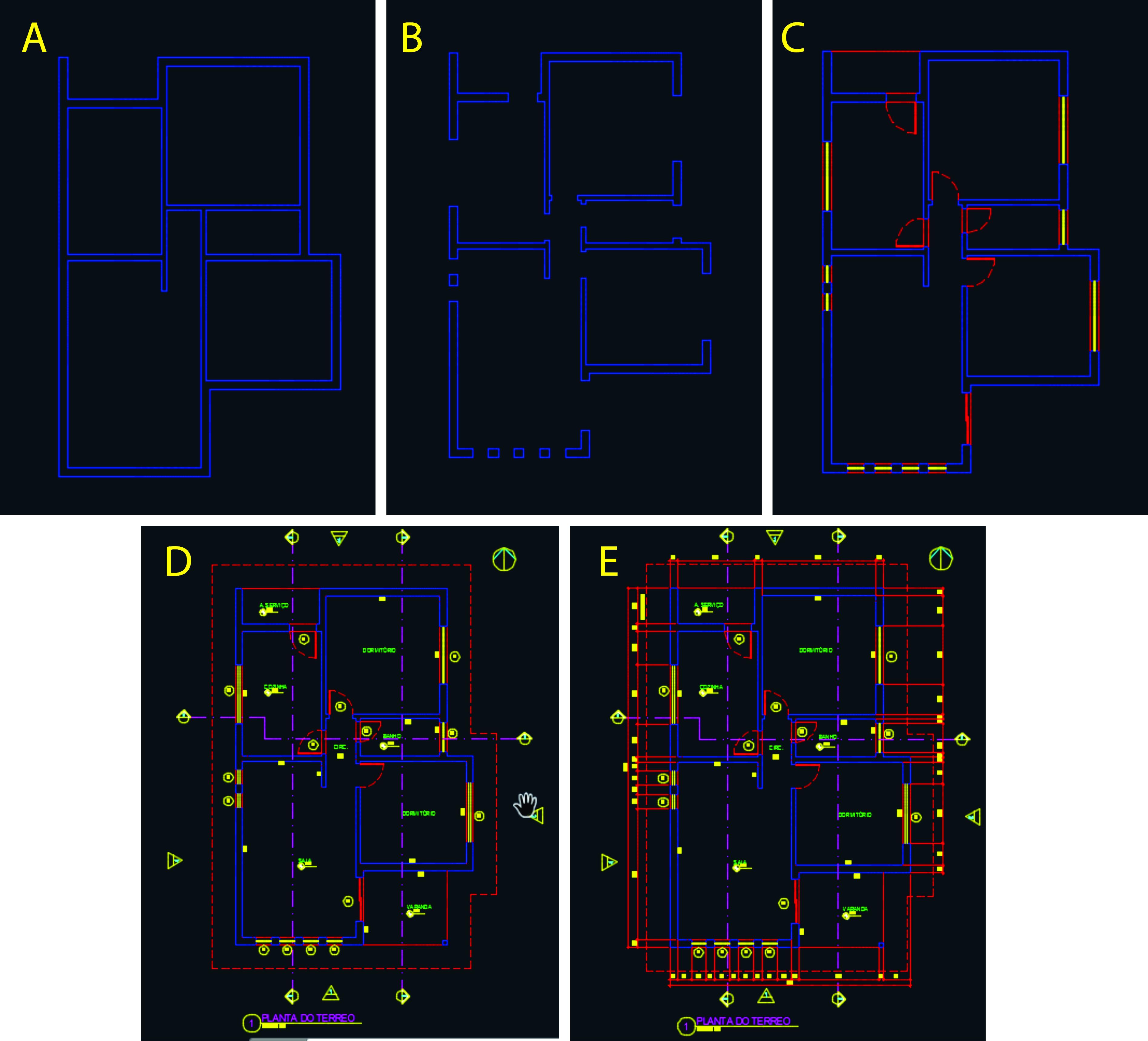 tons da arquitetura hierarquia desenho cad projeto arquitetônico #B0A81B 3791 3437