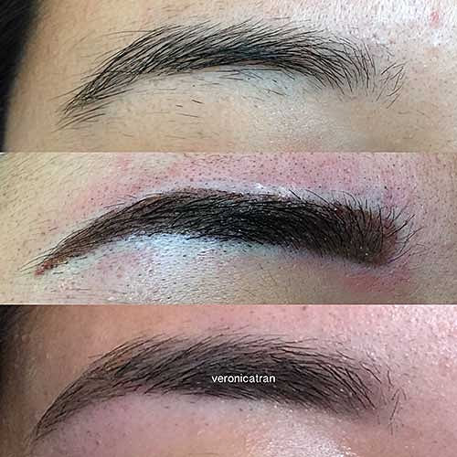 Microblading eyebrows eyelash extensions permanent for Powder eyebrow tattoo