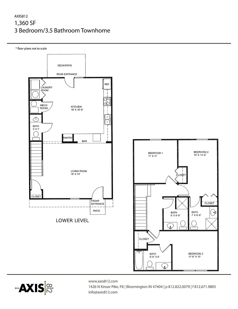 Student housing bloomington indiana townhomes apartments for Floor design sf