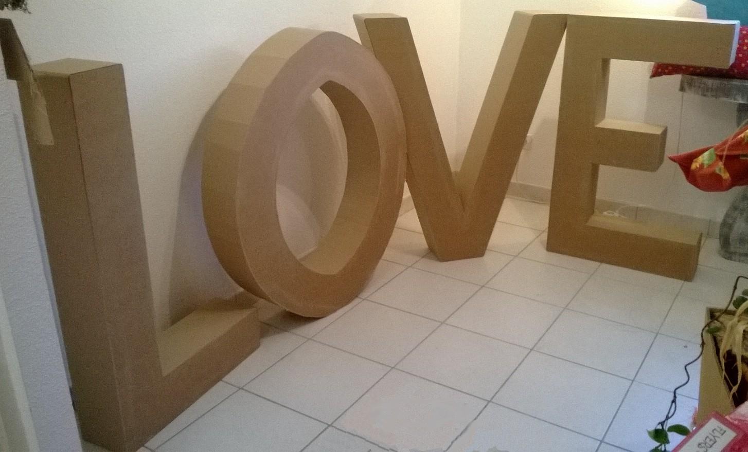 Grande lettre carton 1m stand party decoration de mariage candy bar cabin - Lettre en carton geante ...
