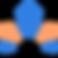 Logo OrigaMe, Origami bleu et orange