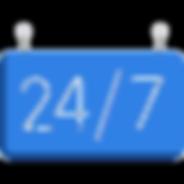 logo bleu 24h/24 7j/7