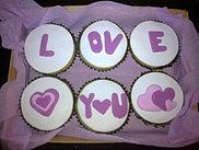 Cupcakes con mensaje