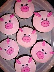Cupcakes Cerdito