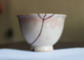 кинцуги реставрация чашка серебро лак