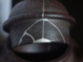 кинцуги, чайник, отремонтированный, серебро