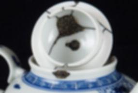 кинцуги, kintsugi, фарфор, чайник, ремонт, посуда, лак уруси, мастерская, россия, серебро