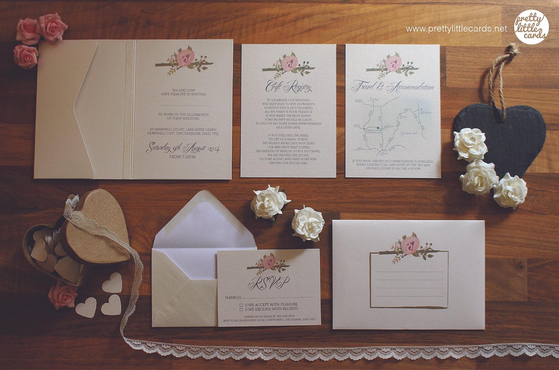 prettylittlecards wedding stationery Vintage Wedding Stationery