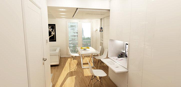 architecte d 39 int rieur paris am nagement studio issy les moulineaux. Black Bedroom Furniture Sets. Home Design Ideas