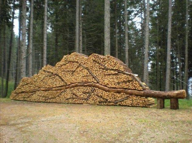 weitere kreative m glichkeit sein brennholz zu stapeln d brennholz kaminholz g nstig kaufen. Black Bedroom Furniture Sets. Home Design Ideas