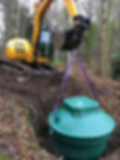 Excavations for septic tank installation