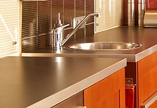 Multi Directional Brushed Stainless Steel Countertop Sold At Designing Richmond  VA