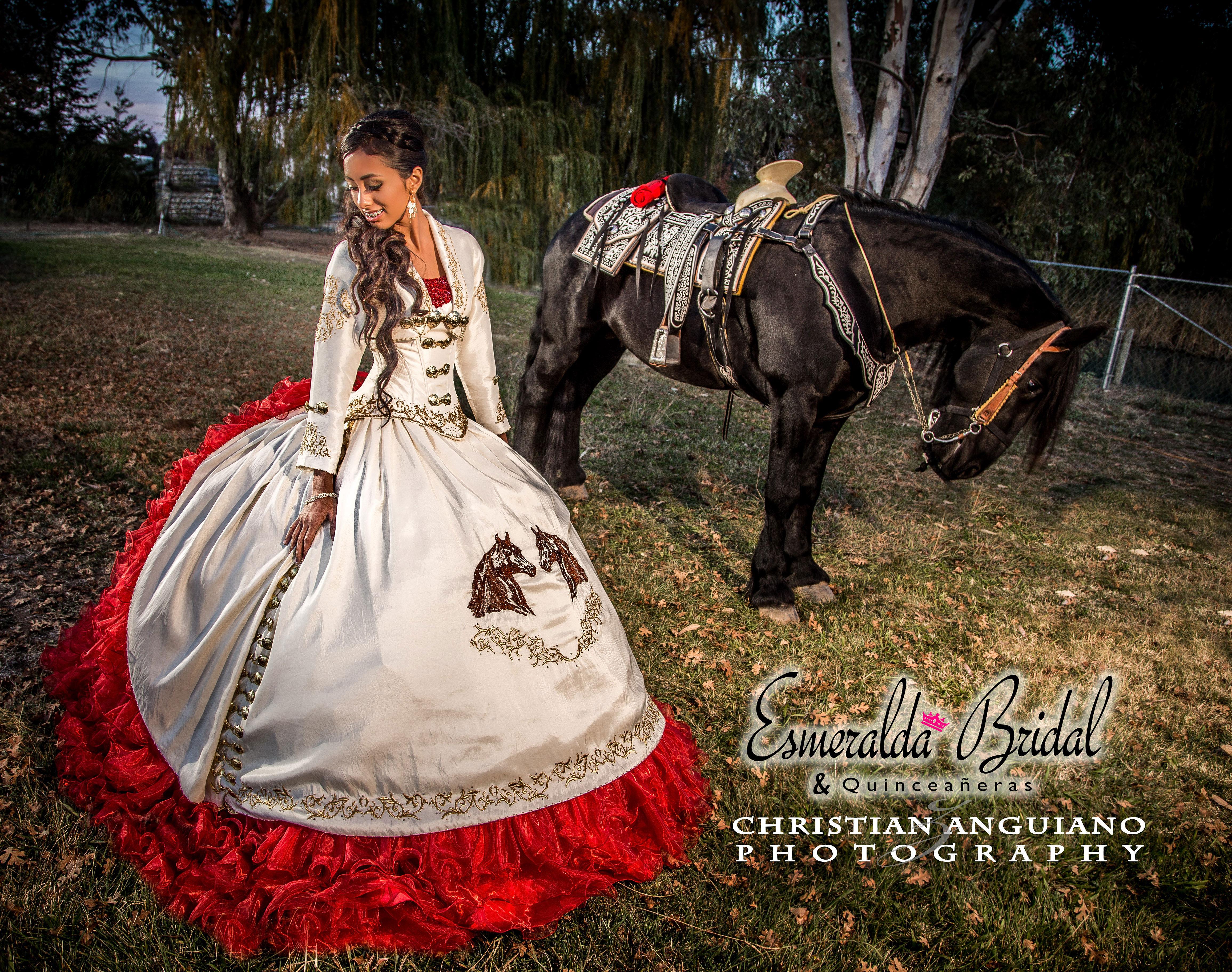 Esmeralda Bridal & Quinceañeras Best Quinceañera Dresses in the Market | Charra-dress-with-horse.jpg