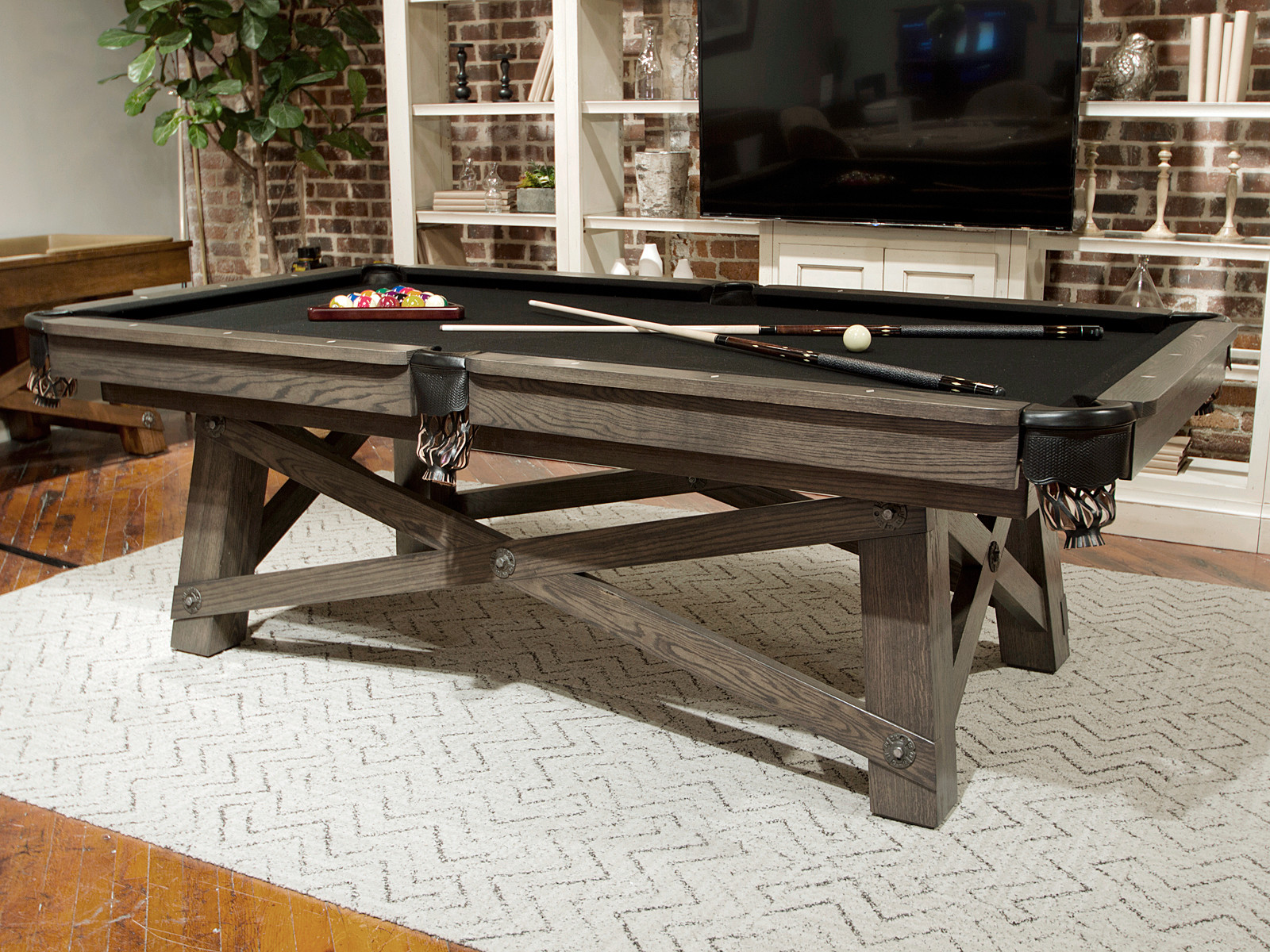 Loft pool table by california house pool table game - Pool table house ...