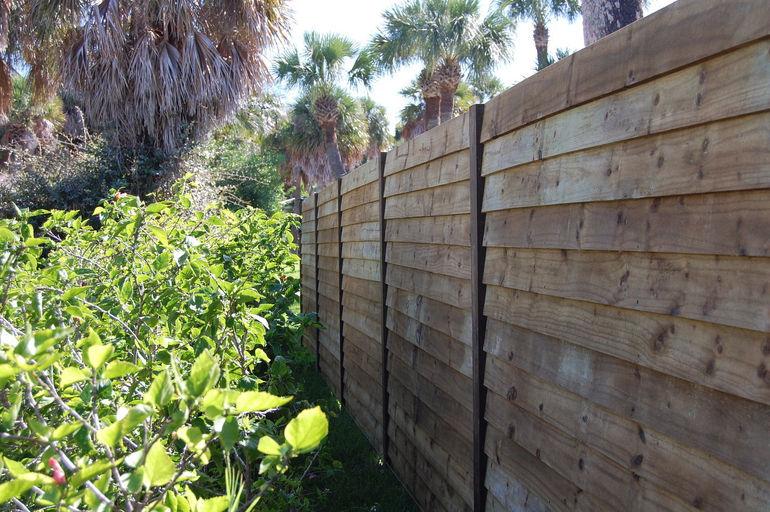 wood perimeter fence