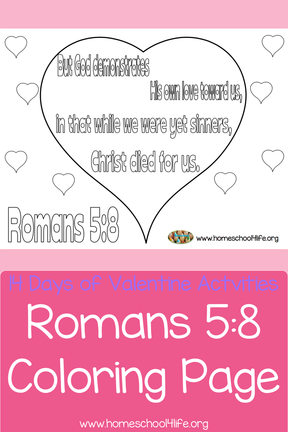 Romans 5:8 Coloring Page | Homeschool4Life.org / Where Homeschooling ...