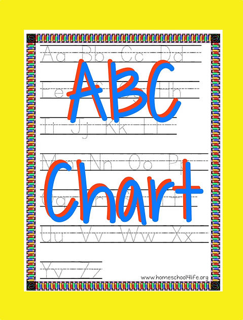photo relating to Printable Abc Chart named Printable ABC Chart with Handwriting Assistance Homeschool4Existence