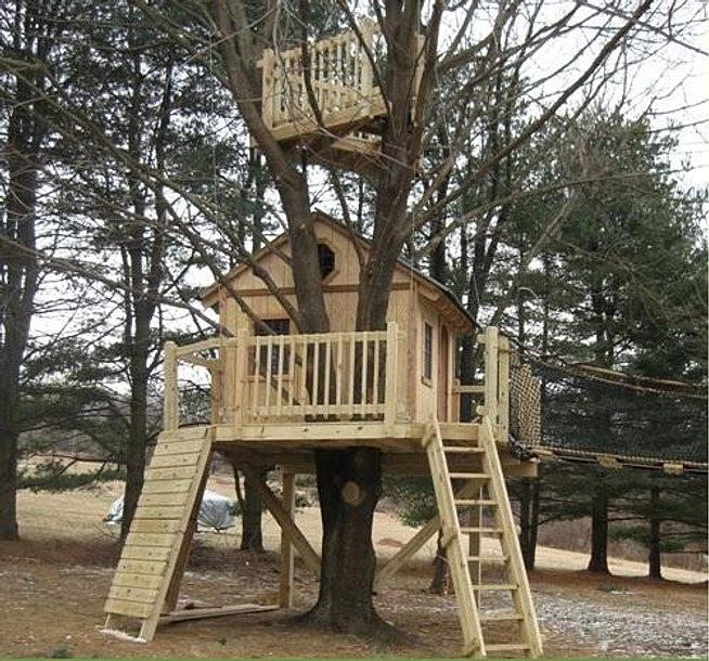 Дом с дерева своими руками фото