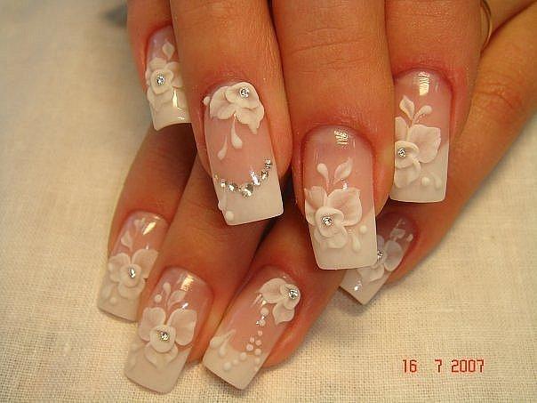 Рисунки для свадебных ногтей
