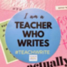 I am a teacher who writes photo