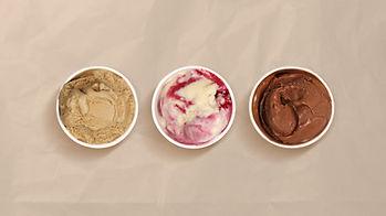 Tres sabores de helado