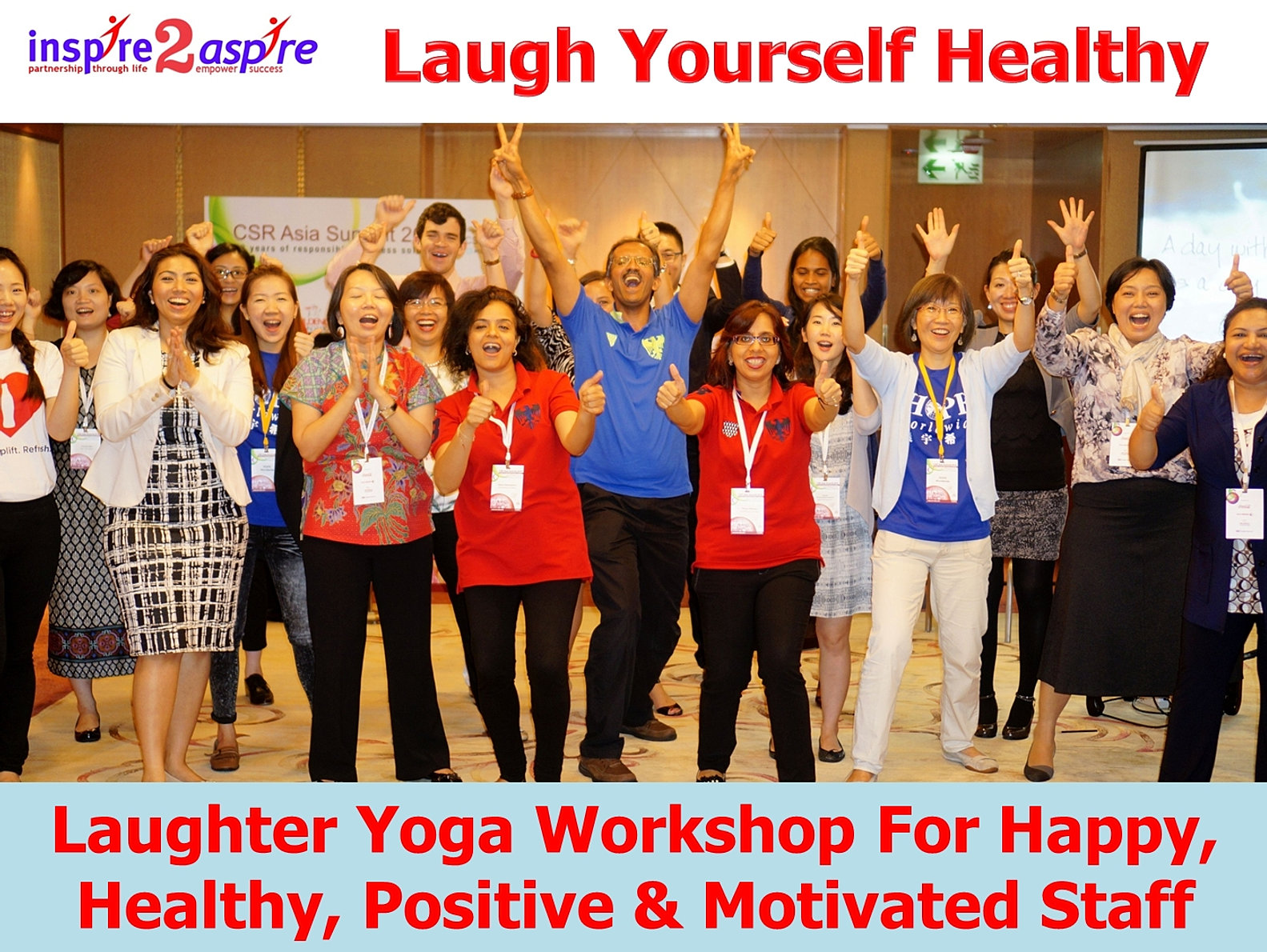 laughter workshop When you book a laughter yoga workshop for your business, workplace, school or organisation, laughter yoga australia delivers a unique tailored experience.