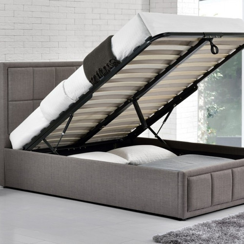 Hannover Fabric Ottoman Storage Bed - FTA Furnishing Nottingham Beds Storage Beds
