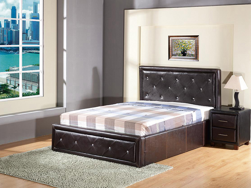 gasdruckfeder ottomane aufbewahrung bett 1 5 m 1 4m kristall strass ebay. Black Bedroom Furniture Sets. Home Design Ideas