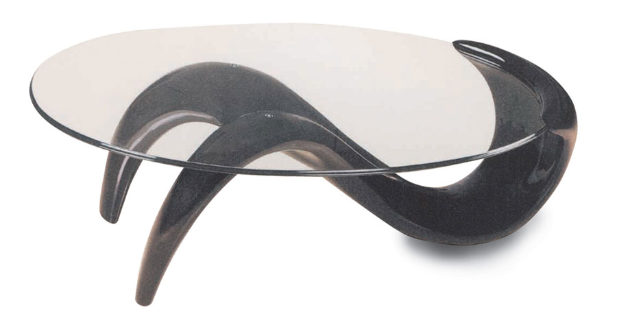 Contemporary Italian Design 10mm Thick Glass Oval Coffee Table In Black Or Red Ebay