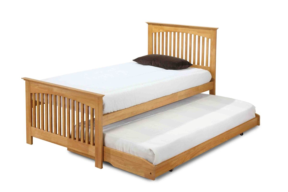 shaker style oak or white finish 3ft single bed with 3ft. Black Bedroom Furniture Sets. Home Design Ideas
