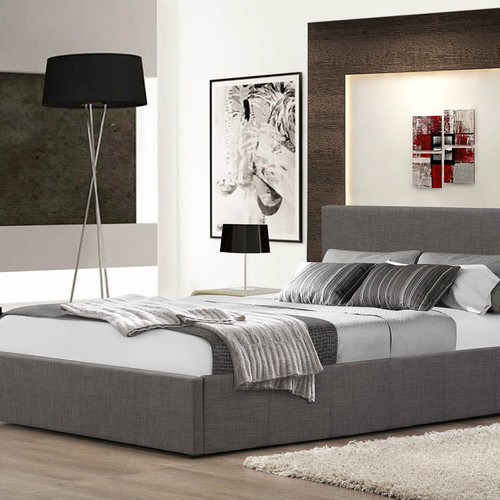 NEW Fabric Ottoman Storage Bed - FTA Furnishing Nottingham Beds Fabric Beds