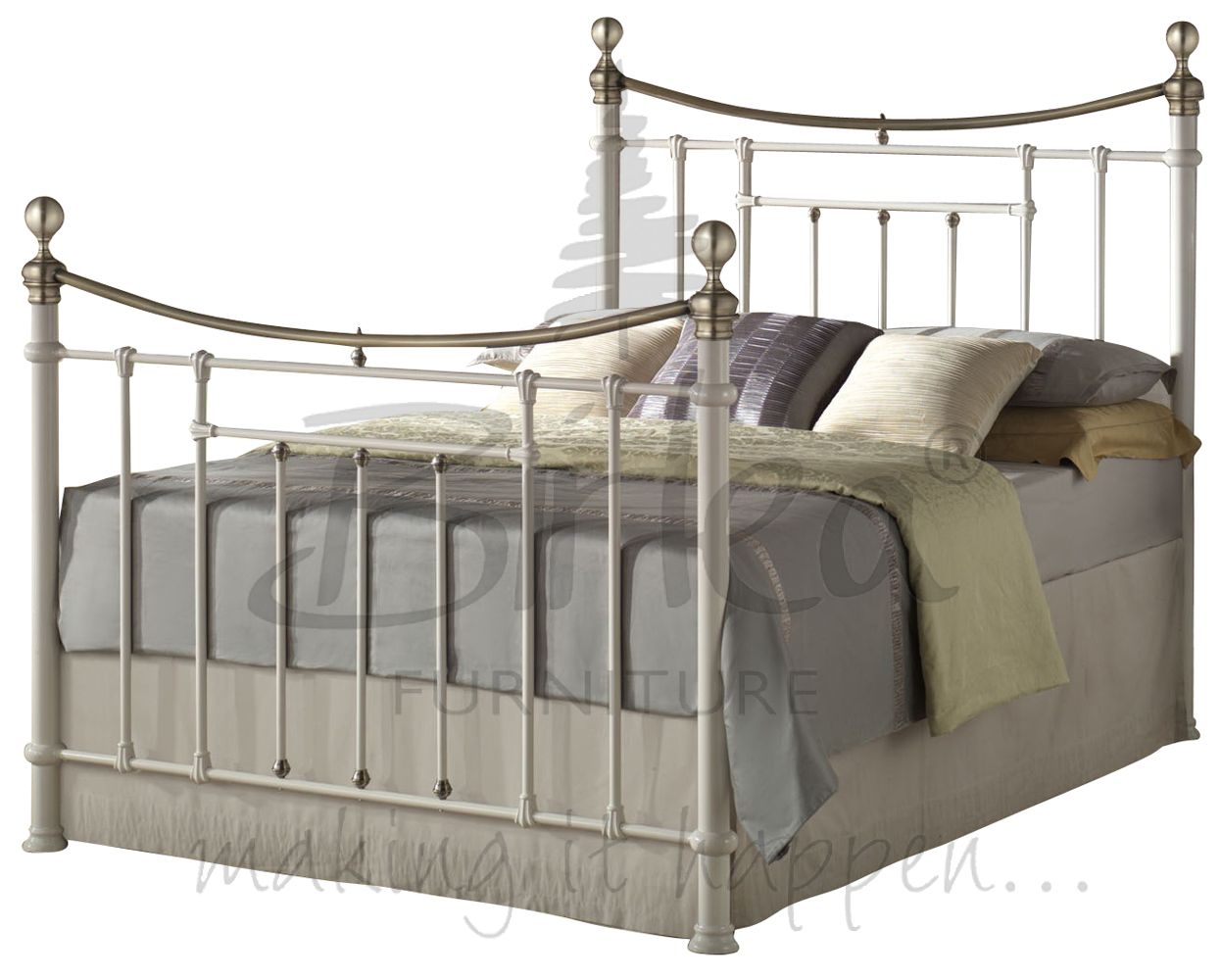 Victorian Style Metal Bed Frames : Classic vintage victorian style metal bed ft and