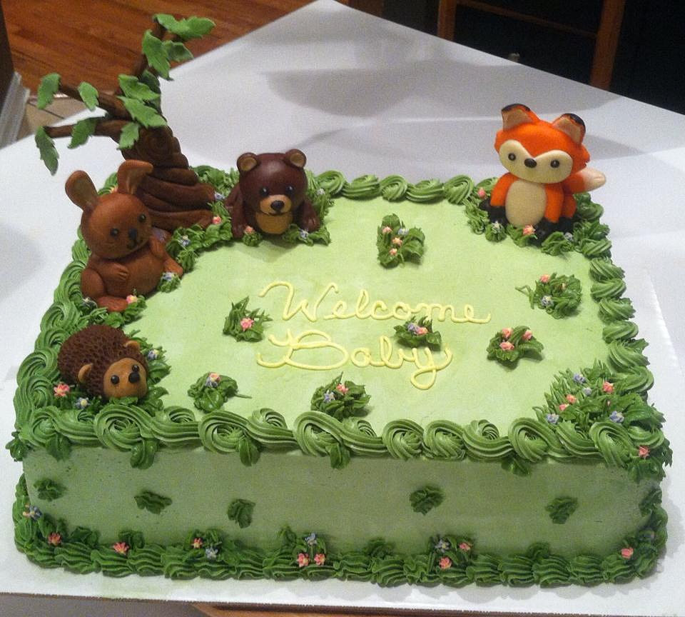 specialty cakes pittsburgh p woodland creature baby shower cake