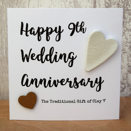 8th 9th 10th and 11th wedding anniversary gifts 9th wedding anniversary clay script card negle Gallery